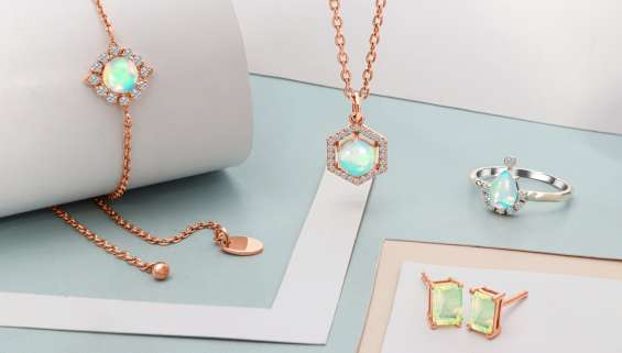 Genuine golden opal jewelry at manufacturer price.