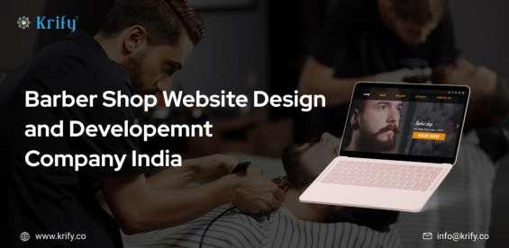 Barbershop website design and development company india
